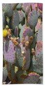 Purple Prickly Pear 1 Beach Towel