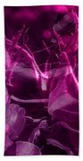 Purple Rose And Pansy Beach Towel