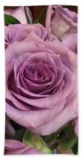 Purple Rose Beach Towel