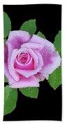 Purple Rosebud2 Cutout Beach Towel