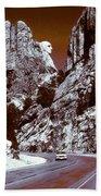 Purple Mount Rushmore Vision Beach Towel