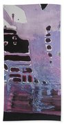 Purple Seascape Beach Towel