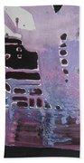Purple Seascape Beach Sheet