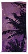 Purple Sky Palm Beach Towel