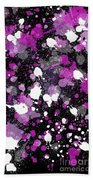 Purple Splash Beach Towel