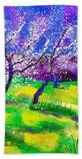 Purple Spring Beach Towel