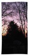 Purple Sunrise Beach Towel