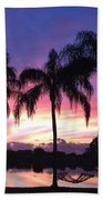 Purple Sunrise  Beach Towel