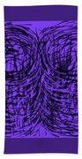 Purple Swirls Beach Towel