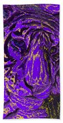 Purple Tiger Beach Towel