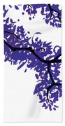 Purple Tree Beach Towel