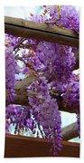 Purple Trellis Beach Towel