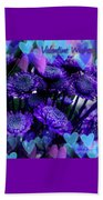 Purple  Valentine Beach Towel