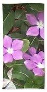Purple Vintas Flower Photograph Beach Towel