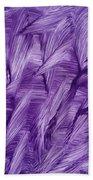 Purple Watercolor Art  Beach Towel
