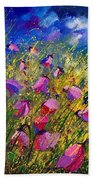 Purple Wild Flowers  Beach Towel