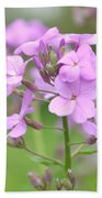 Purple Wildflowers Two Beach Towel