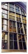 Chicago Golden Purple Window Panes Beach Sheet