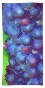 Purple Wine Grapes 2017 Beach Towel