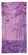 Purple Woods Beach Towel