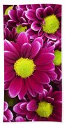 Purple Yellow Flowers Beach Towel