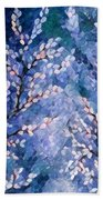 Pussy Willow Abstract Beach Towel