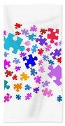Puzzle Pieces Beach Towel