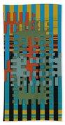Puzzled Beach Towel by Ben and Raisa Gertsberg