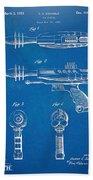 Pyrotomic Disintegrator Pistol Patent Beach Towel