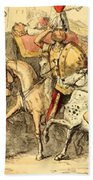 Pyrrhus Arrives In Italy With His Troupe Beach Towel