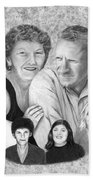 Quade Family Portrait  Beach Towel