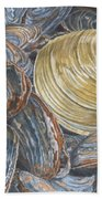 Quahog On Clams Beach Towel