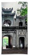 Quan Thanh Temple Gate Beach Towel