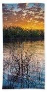 Quanah Parker Lake Sunrise Beach Towel