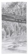 Quantico Welcome Graphite Beach Towel by Betsy Hackett