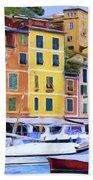 Quayside At Portofino Beach Towel