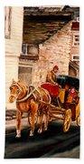 Quebec City Carriage Ride Beach Sheet