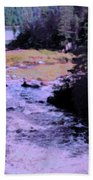 Quebec River Beach Towel