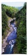 Quechee Gorge In Vermont Beach Towel