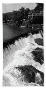 Quechee, Vermont - Falls 3 Bw Beach Towel