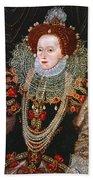 Queen Elizabeth I, C1588 Beach Towel