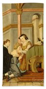 Queen Mary I Curing Subject With Royal Beach Towel