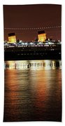 Queen Mary Panorama  Beach Towel