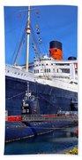 Queen Mary Ship Beach Towel