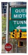 Queens Midtown Tunnel Beach Towel
