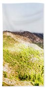 Queenstown Tasmania Wide Mountain Landscape Beach Towel