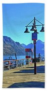 Queenstown's Majestic Mountains Beach Towel