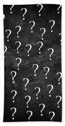 Question Mark Beach Towel