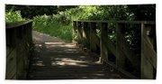 Quiet Path Bridge Beach Towel
