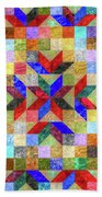 Quilt Pattern No. 1 Beach Towel
